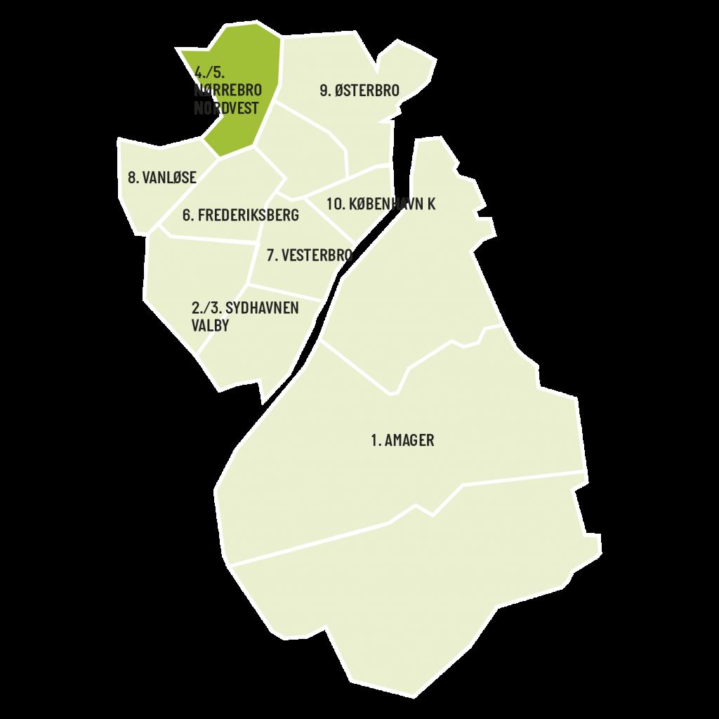 områdekort for aviserne NørrebroLIV og NordvestLIV