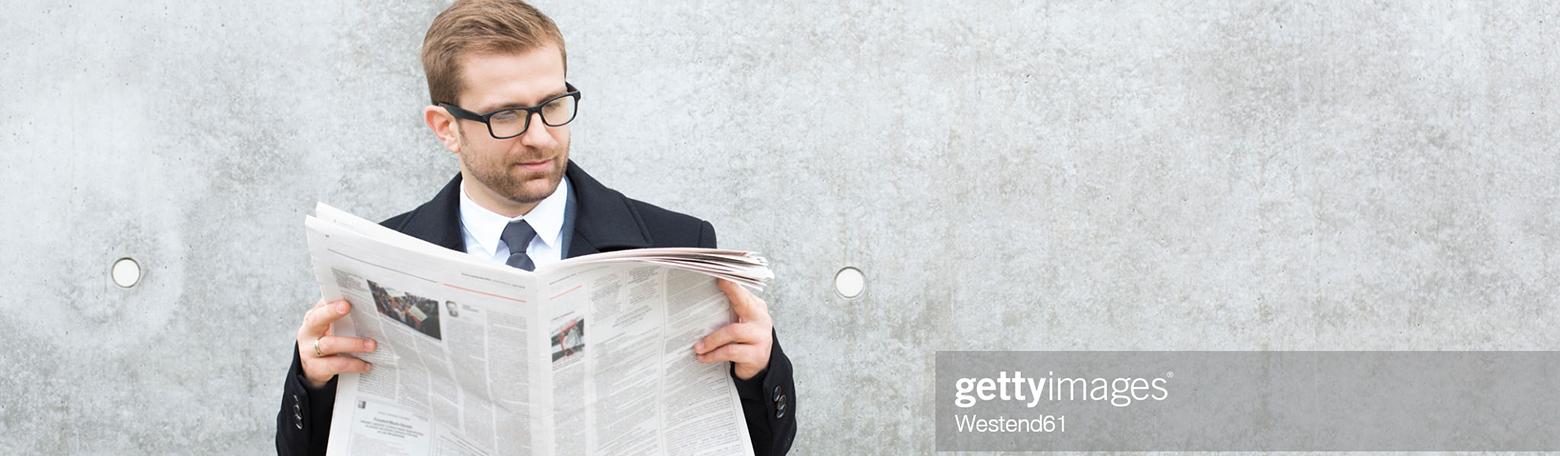 Forretningsmand læser Erhvervsavis